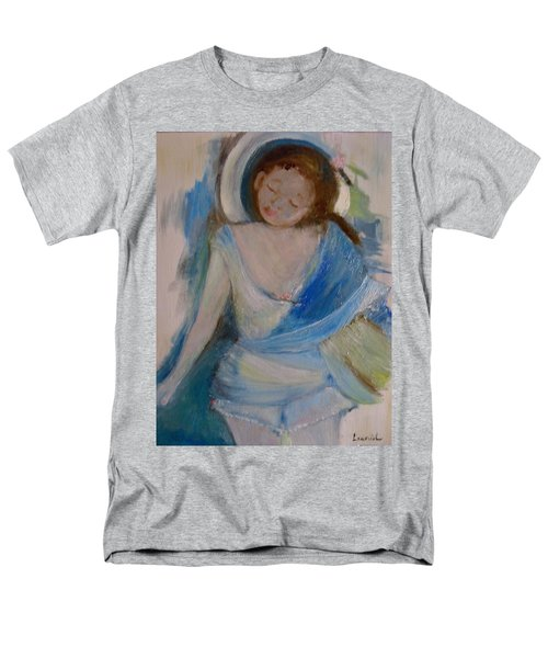 Men's T-Shirt  (Regular Fit) featuring the painting To The Beach by Laurie L