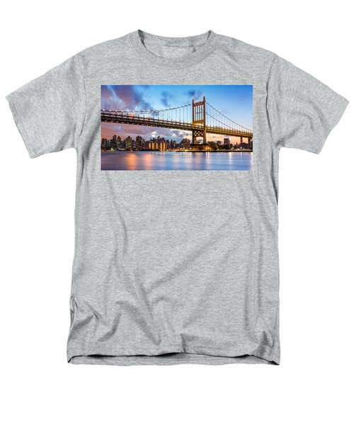 Men's T-Shirt  (Regular Fit) featuring the photograph Triboro Bridge At Dusk by Mihai Andritoiu