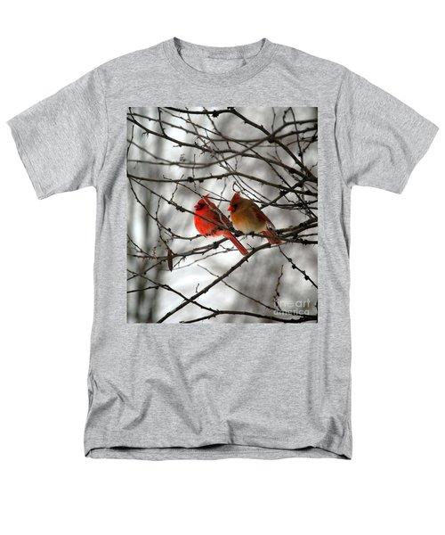 True Love Cardinal Men's T-Shirt  (Regular Fit) by Peggy Franz