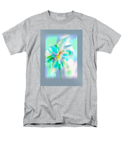 Men's T-Shirt  (Regular Fit) featuring the digital art Turquoise Bloom by Frank Bright