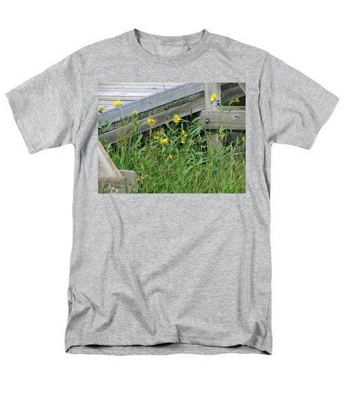 Under The Boardwalk Men's T-Shirt  (Regular Fit) by Laurel Powell