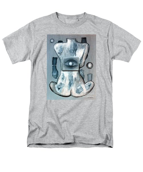Men's T-Shirt  (Regular Fit) featuring the painting Listen Via Your Eyes by Fei A