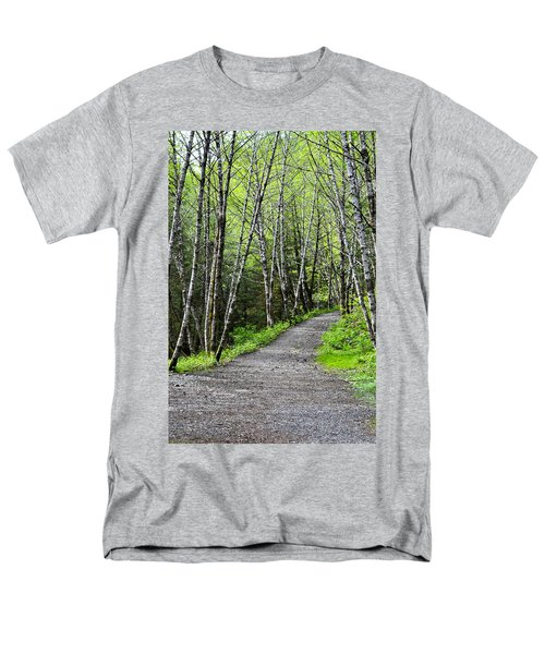 Men's T-Shirt  (Regular Fit) featuring the photograph Up The Trail by Cathy Mahnke