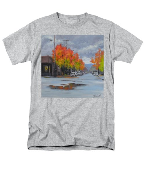Men's T-Shirt  (Regular Fit) featuring the painting Urban Autumn by Karen Ilari