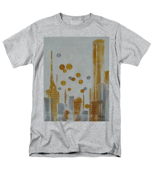 Men's T-Shirt  (Regular Fit) featuring the painting Urban Polish by Judith Rhue