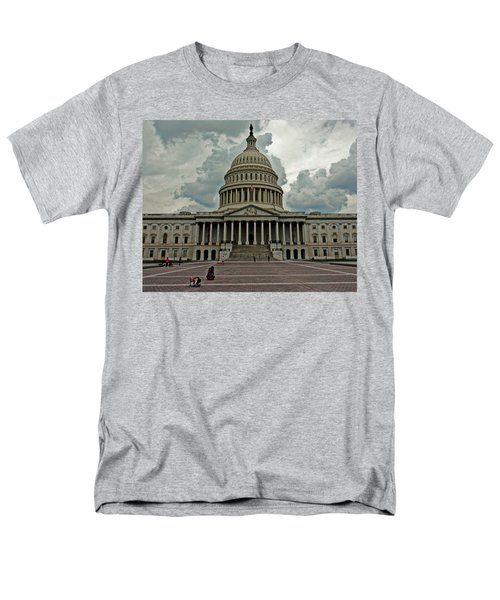 Men's T-Shirt  (Regular Fit) featuring the photograph U.s. Capitol Building by Suzanne Stout