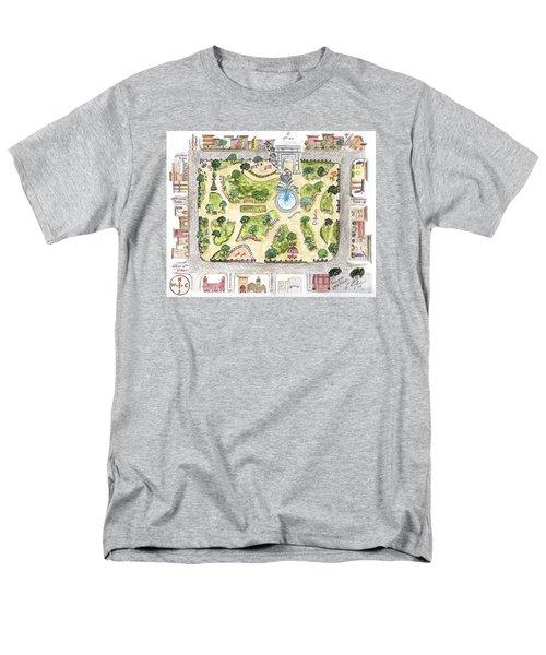 Washington Square Park Map Men's T-Shirt  (Regular Fit) by AFineLyne