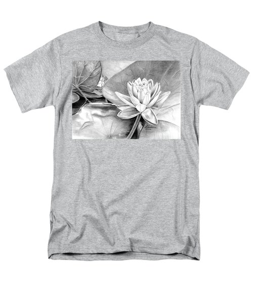 Men's T-Shirt  (Regular Fit) featuring the drawing Water Lilly by Laurianna Taylor