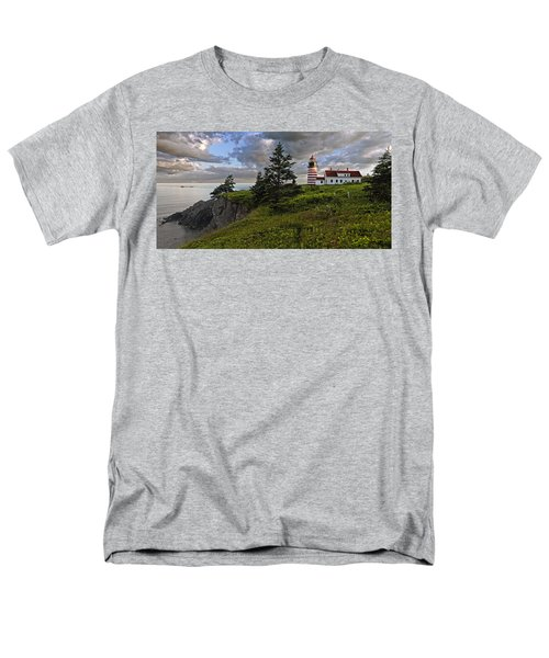 West Quoddy Head Lighthouse Panorama Men's T-Shirt  (Regular Fit) by Marty Saccone