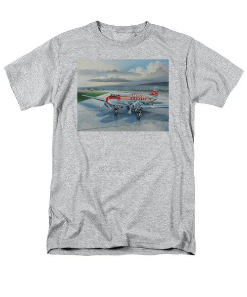 Western Airlines Dc-3 Men's T-Shirt  (Regular Fit) by Stuart Swartz