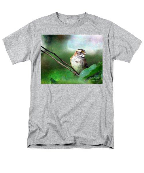 White-throated Sparrow Men's T-Shirt  (Regular Fit) by Kerri Farley