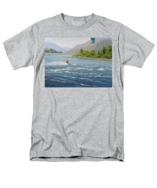 Men's T-Shirt  (Regular Fit) featuring the painting Wind And Water by Karen Ilari
