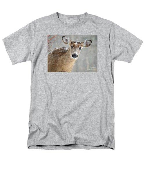 Winter Buck Men's T-Shirt  (Regular Fit) by Amy Porter