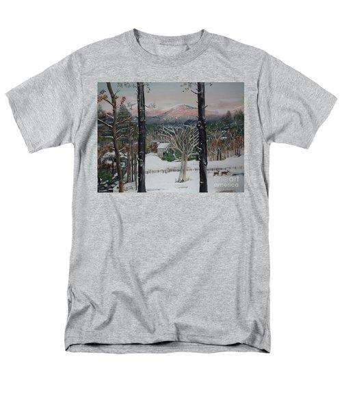 Winter - Cabin - Pink Knob Men's T-Shirt  (Regular Fit) by Jan Dappen