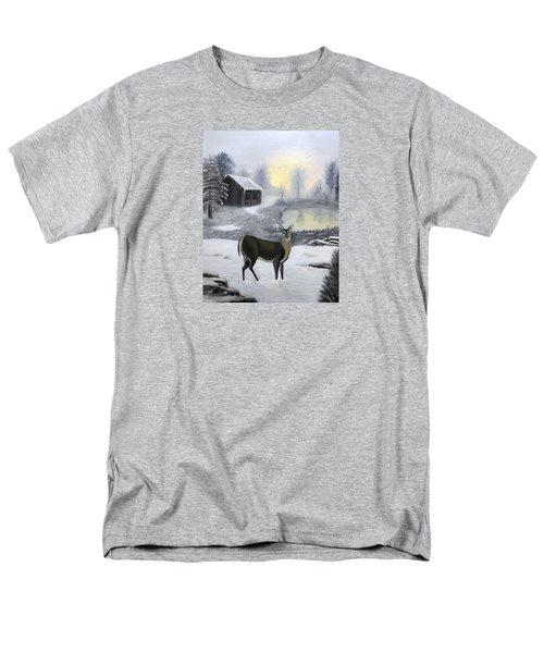 Winter Doe Men's T-Shirt  (Regular Fit) by Sheri Keith