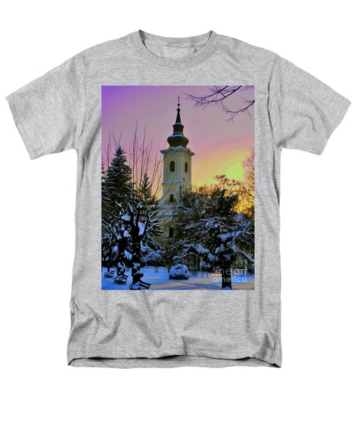 Winter Sunset Men's T-Shirt  (Regular Fit) by Nina Ficur Feenan