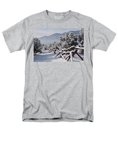 Winter Trail Beckons Men's T-Shirt  (Regular Fit) by Diane Alexander