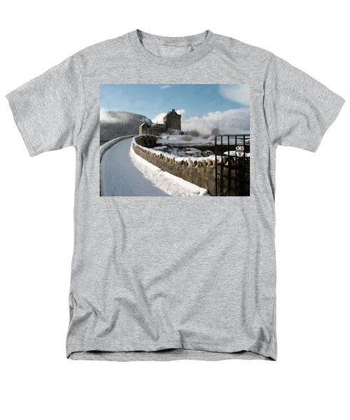 Winter Wonder Walkway Men's T-Shirt  (Regular Fit) by Bruce Nutting