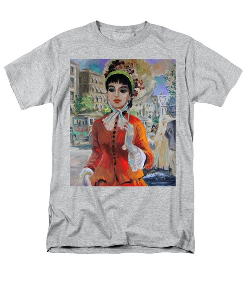 Woman With Parasol In Paris Men's T-Shirt  (Regular Fit) by Karon Melillo DeVega