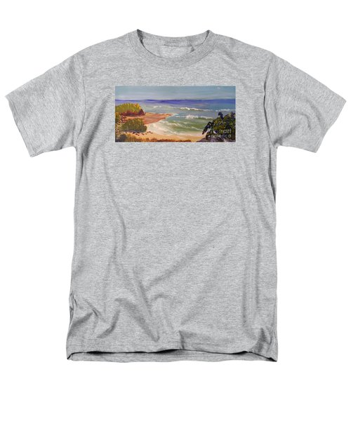 Men's T-Shirt  (Regular Fit) featuring the painting Wombarra Beach by Pamela  Meredith