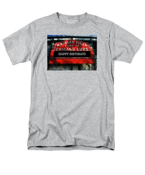 Wrigley Field -- Happy Birthday Men's T-Shirt  (Regular Fit) by Stephen Stookey