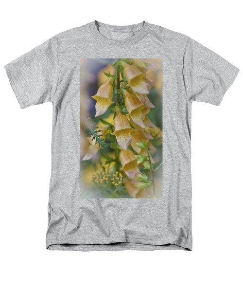 Yellow Digitalis Men's T-Shirt  (Regular Fit) by Maj Seda