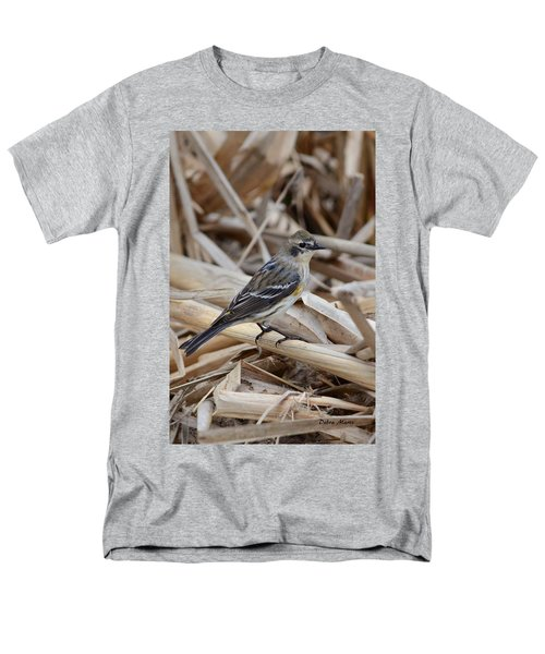 Men's T-Shirt  (Regular Fit) featuring the photograph Yellow-rumped Warbler by Debra Martz