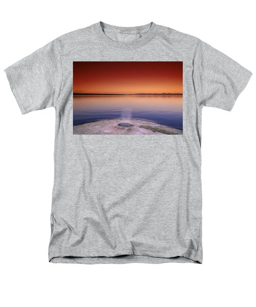 Yellowstone Lake And Geyser Men's T-Shirt  (Regular Fit) by Rich Franco