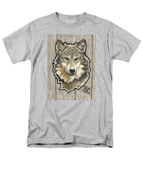 Men's T-Shirt  (Regular Fit) featuring the painting Young Wolf by VLee Watson