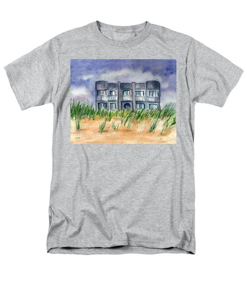 Men's T-Shirt  (Regular Fit) featuring the painting Beach House by Clara Sue Beym