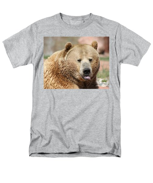 Men's T-Shirt  (Regular Fit) featuring the photograph Bear Rasberry by Living Color Photography Lorraine Lynch