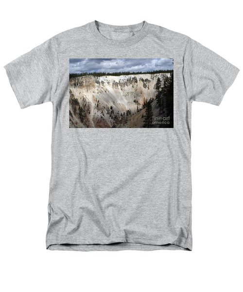 Men's T-Shirt  (Regular Fit) featuring the photograph Beautiful Lighting On The Grand Canyon In Yellowstone by Living Color Photography Lorraine Lynch