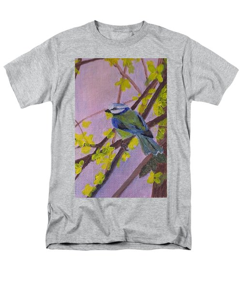 Men's T-Shirt  (Regular Fit) featuring the painting Blue Bird by Christy Saunders Church