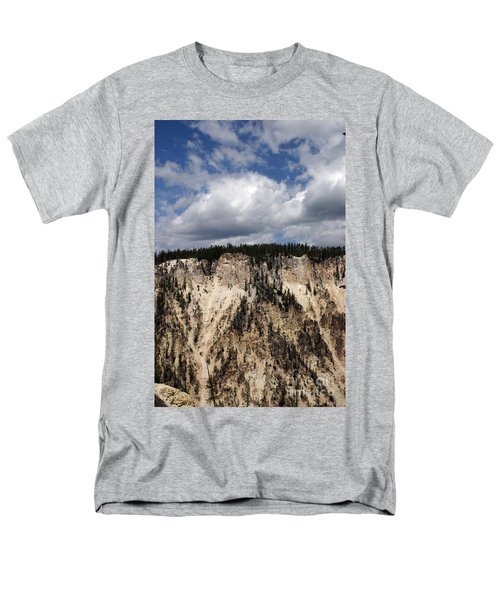 Men's T-Shirt  (Regular Fit) featuring the photograph Blue Skies And Grand Canyon In Yellowstone by Living Color Photography Lorraine Lynch