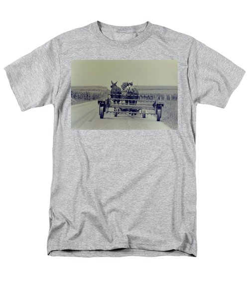 Men's T-Shirt  (Regular Fit) featuring the photograph Boy Heads To Work by Mike Martin