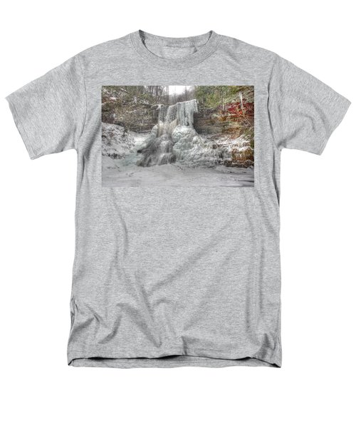 Cascades In Winter 1 Men's T-Shirt  (Regular Fit) by Dan Stone