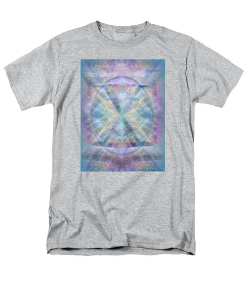 Men's T-Shirt  (Regular Fit) featuring the digital art Chalice Of Vorticspheres Of Color Shining Forth Over Tapestry by Christopher Pringer