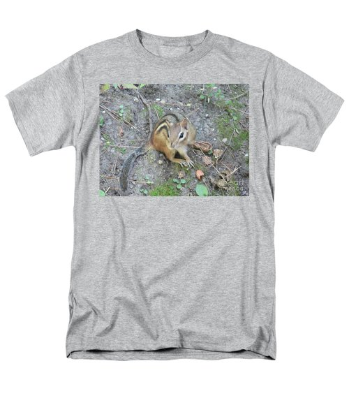 Men's T-Shirt  (Regular Fit) featuring the photograph Chipmunk Feast by Laurel Best