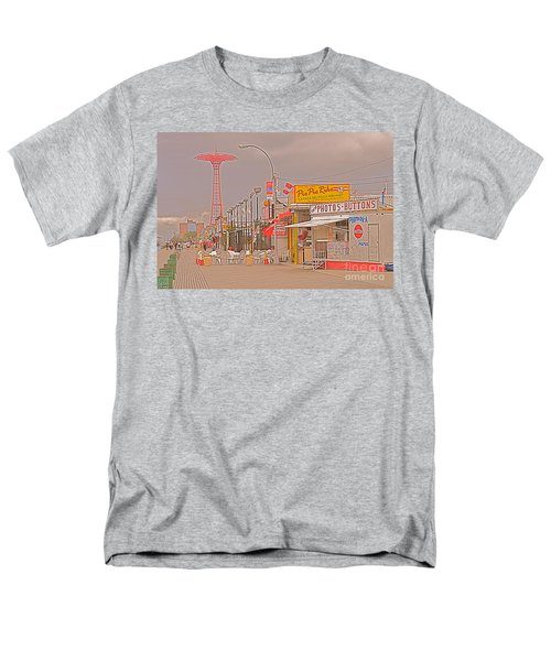 Coney Island Boardwalk Men's T-Shirt  (Regular Fit) by Mark Gilman