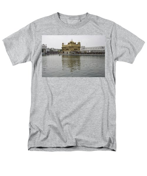 Men's T-Shirt  (Regular Fit) featuring the photograph Darbar Sahib And Sarovar Inside The Golden Temple by Ashish Agarwal