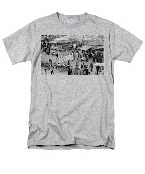 Men's T-Shirt  (Regular Fit) featuring the photograph Djemaa El Fna Marrakech Morocco by Tom Wurl