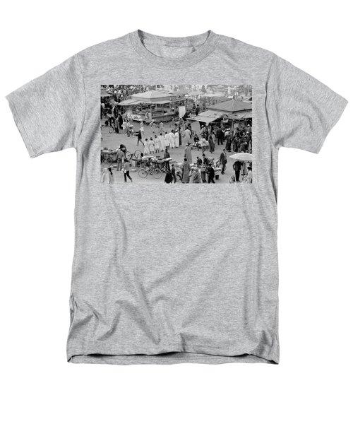 Djemaa El Fna Marrakech Morocco Men's T-Shirt  (Regular Fit) by Tom Wurl