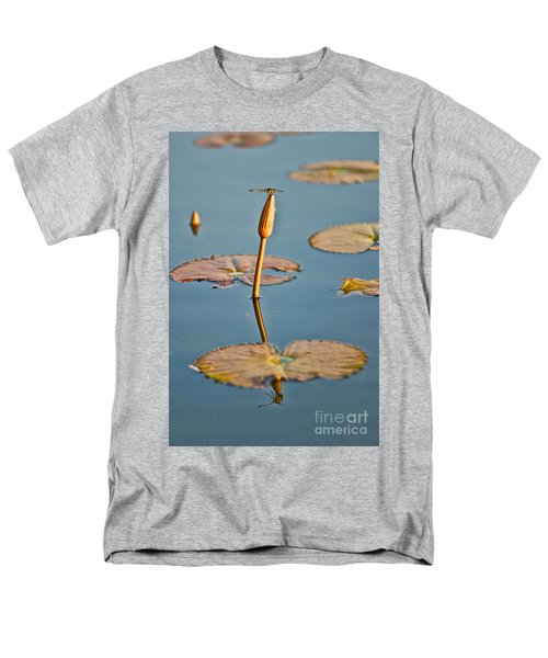 Men's T-Shirt  (Regular Fit) featuring the photograph Dragonfly And Lotus by Luciano Mortula