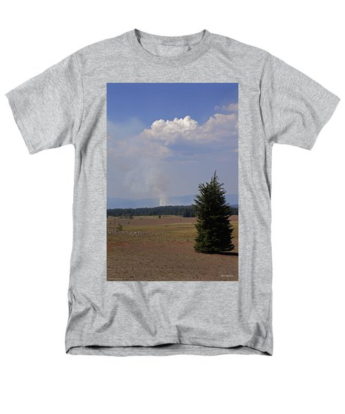 Men's T-Shirt  (Regular Fit) featuring the photograph Fire In The Cascades by Mick Anderson