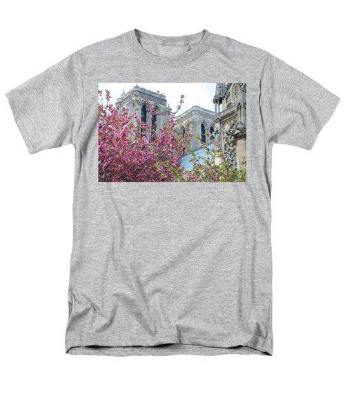 Men's T-Shirt  (Regular Fit) featuring the photograph Flowering Notre Dame by Jennifer Ancker