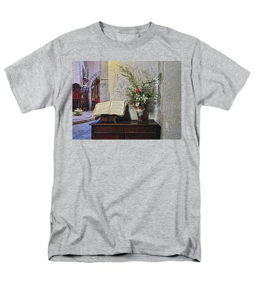 Men's T-Shirt  (Regular Fit) featuring the photograph French Church Decorations by Dave Mills