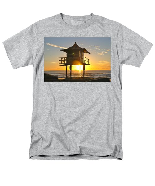 Men's T-Shirt  (Regular Fit) featuring the photograph Gold Coast Life Guard Tower by Eric Tressler