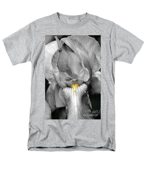 Men's T-Shirt  (Regular Fit) featuring the photograph Iris - Bw by Larry Carr