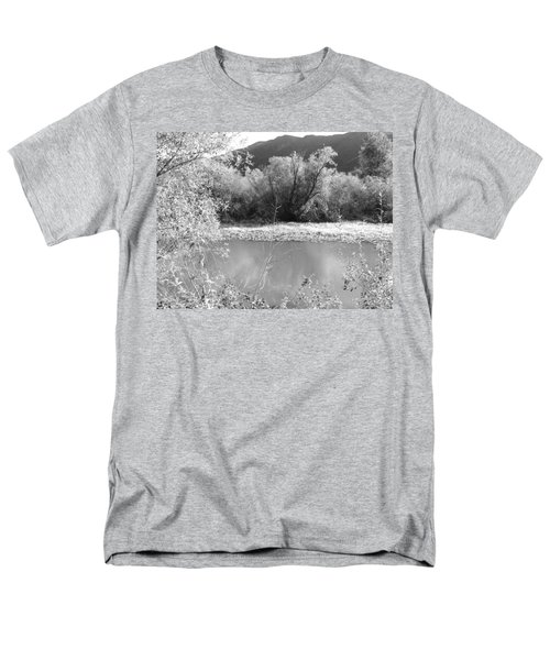 Men's T-Shirt  (Regular Fit) featuring the photograph Lakeside Mountain View by Kathleen Grace