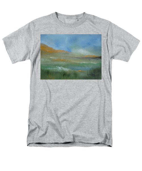 Men's T-Shirt  (Regular Fit) featuring the painting Misty Morning by Judith Rhue